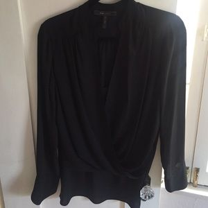 Sexy Hi-low BCBG Drapey Blouse