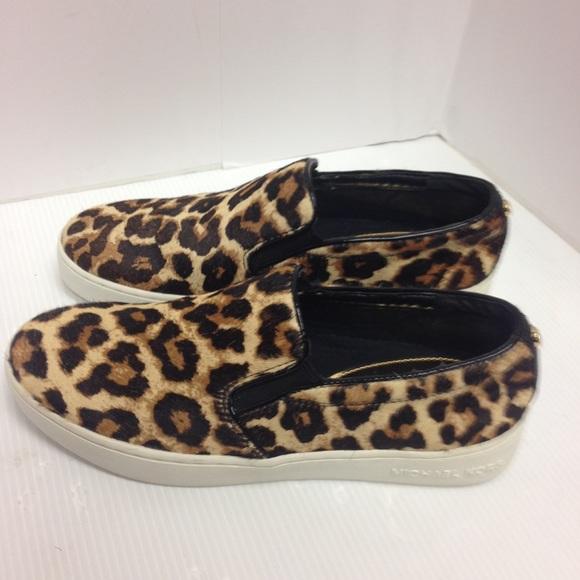 183f4085621f New Michael Kors Animal Print Slip-On Shoes
