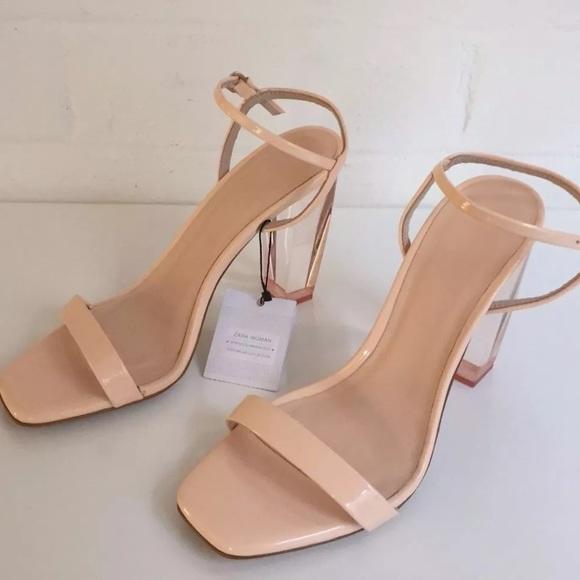 9b46d93fde3 Zara sandals with methacrylate heel
