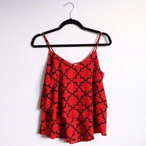 Tops - Crimson Tiered Tank