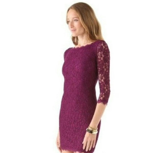 Zarita lace dress purple