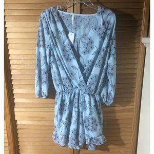 Dresses & Skirts - Plunging V Floral Romper