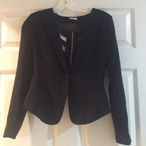 Hot & Delicious Black Cut Out Blazer Jacket Small