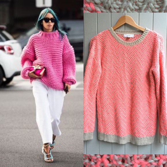 86% off Forever 21 Sweaters - SALE💠Oversized Pink Sweater from ...