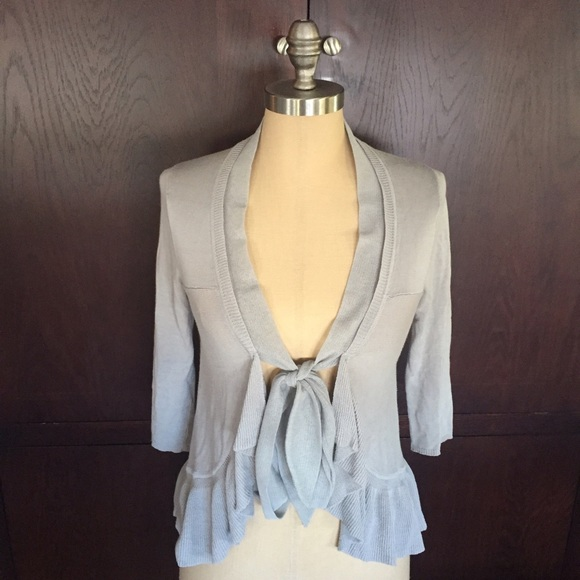 77bfd1480d3f Anthropologie Sweaters - Anthropologie Guinevere Ruffle Front Tie Cardigan