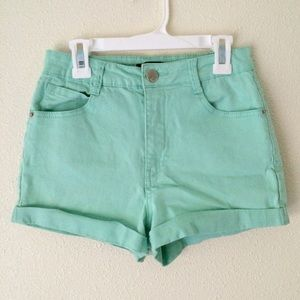 Forever 21 Pants - Mint High Waisted Shorts