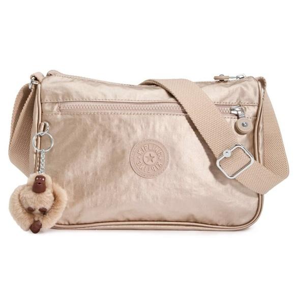 new varieties classic chic best online Kipling Callie Handbag Bag Crossbody Champagne NWT