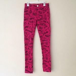 Hello Kitty Pants - Hello Kitty Pink Skinny Pants