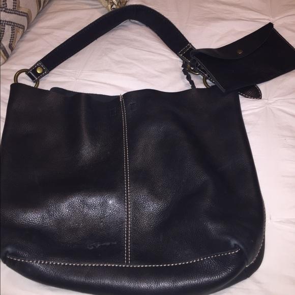 Lucky Brand Bags Black Leather Hobo Tote Bag Poshmark