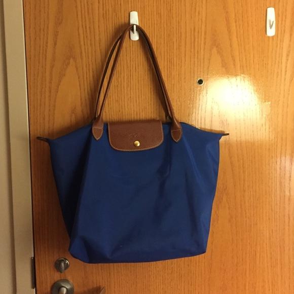 Longchamp Handbags - Large Longchamp Le Pliage Tote in royal blue eca03466e4253
