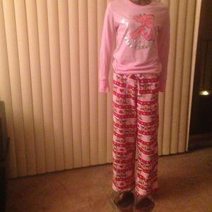 Intimates   Sleepwear - Pink Panther Women s Pajama ... e135f1fdc