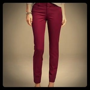 Gap Skinny Mini Pants in Maroon