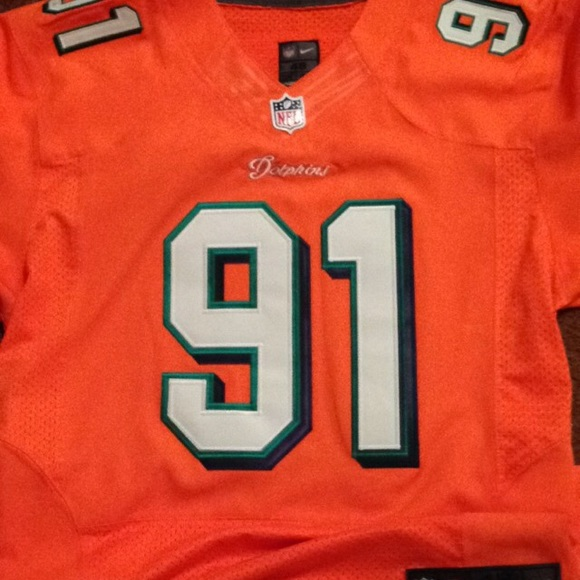 best sneakers ba8b0 470a2 Authentic Nike Miami Dolphins Cameron Wake jersey NWT