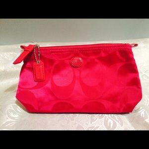New Coach Fuchsia Clutch/makeup bag