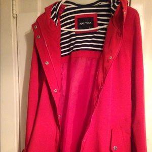 NAUTICA  red nylon coat Brand New!