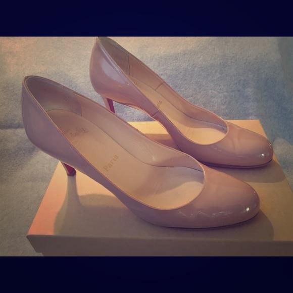 43e0c34f8ddc Christian Louboutin Shoes - Christian Louboutin Patent Nude Simple Pump (39)