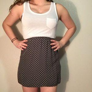 Polka dot and white dress