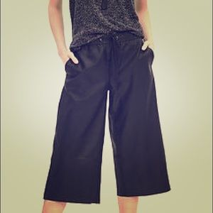 Banana republic faux leather gauchos