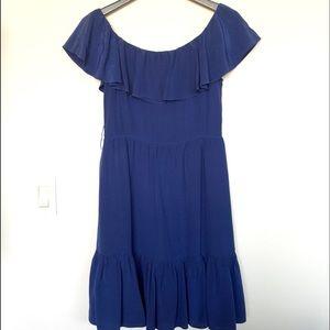 Sandro Dresses & Skirts - Sandro Blue Ruffle Dress