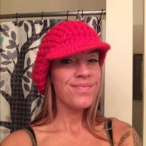 Accessories - Three Knit, Billed Slouch Hats