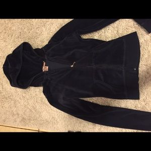 Juicy couture velour hoodie navy xs