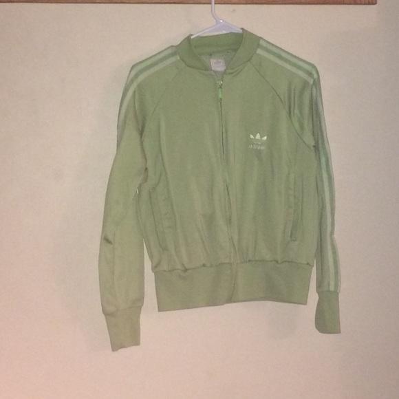 Adidas Jackets   Blazers - Womens Adidas Large Lime green track jacket b59520d17d