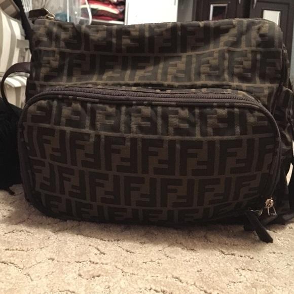 77e7e3f963 promo code fendi handbags handbags leathercloth brown ref.62605 cb6d0  d0dcd  low price fendi diaper bag in good shape barely used 1bff8 192f3