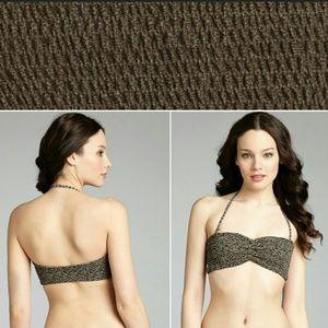 Tori Praver Swimwear  Other - New tori praver betty bandeau bikini top leo XS