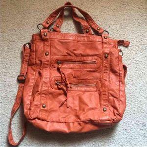 Faux Leather Messenger Bag