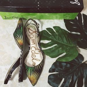 Sam Edelman Palm Tree Slingback Flats