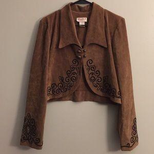Vintage Faux Suede Western Jacket