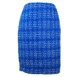 NWOT Blue Tweed Skirt