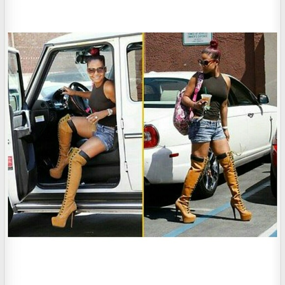 63% off Shoes - Sale! Thigh high work boots from Icyuenvy's closet ...