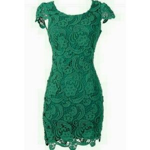 Crochet Lace Fitted Dress