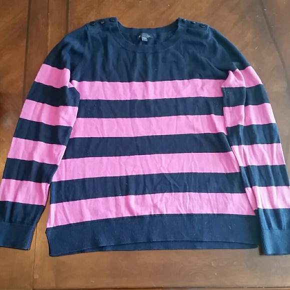 78% off GAP Sweaters - Navy and pink stripe sweater from Heather's ...