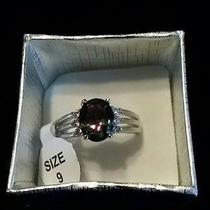 Multi color gem ring