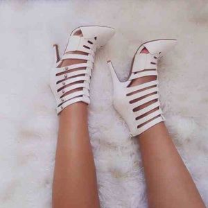 White Caged Shoes