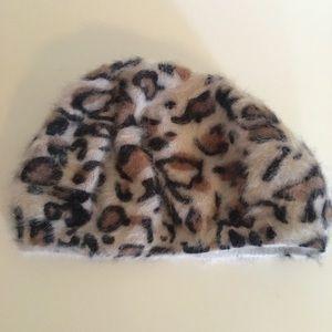 Cheeta print beret