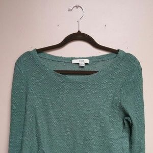 Green Tone Knit Sweater
