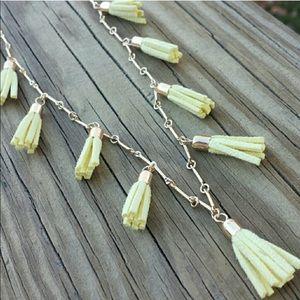 LONG Tassel necklace in sweet yellow