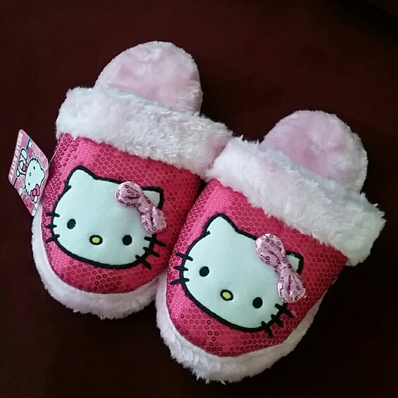 93caf4df8172 Hello Kitty Shoes | Sanrio Pink Faux Fur Slippers 78 M | Poshmark