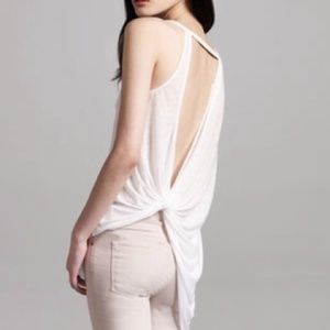 LAST SALE HELMUT LANG TWIST BACK TOP