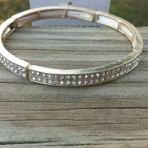 Pretty gold sparkling elastic bracelet