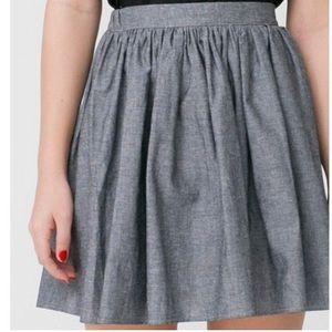 American Apparel Pleated Circle Skirt