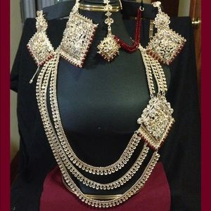 Jewelry - Indian gold plated bridal set 5 pieces