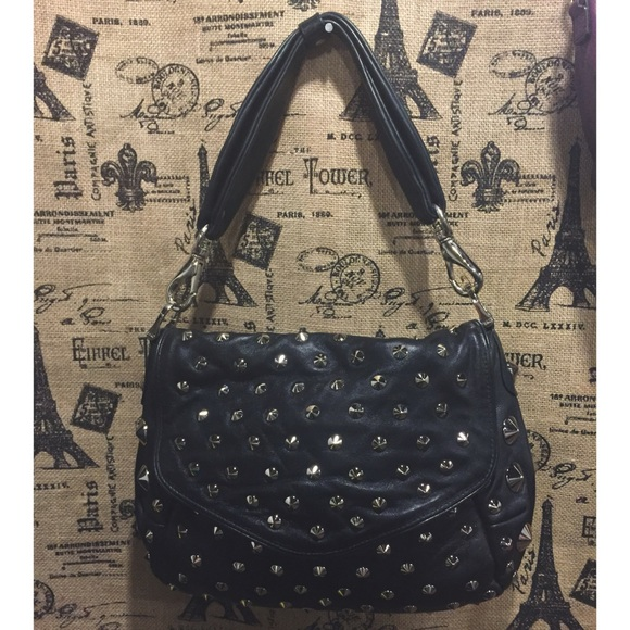 55b0bb7063fd Be   D Handbags - New Be D Studded Shoulder Bag