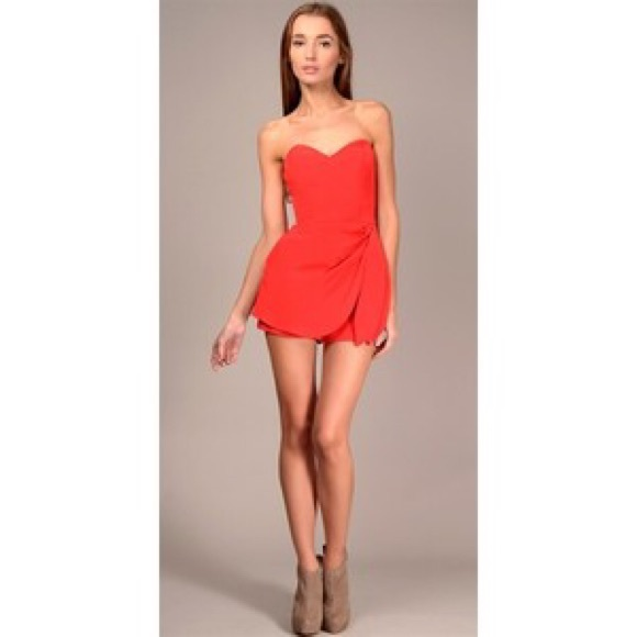 2724c33d8db1 Jennifer Hope Pants - Jennifer Hope Red Silk Romper