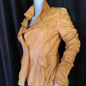 Yves Saint Laurent Jackets & Blazers - Tom Ford for YSL Orange Leather Runway Jacket
