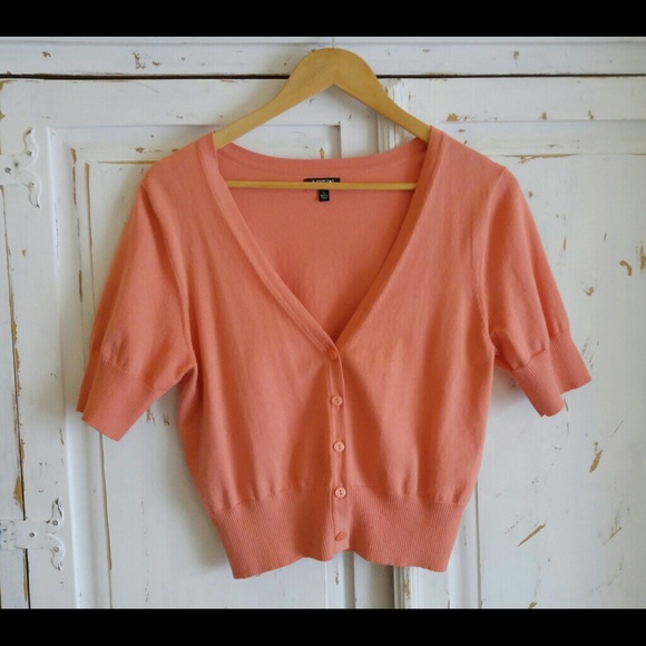 Apt. 9 - Apt 9 Peach Short Sleeve Cardigan from Heather's closet ...