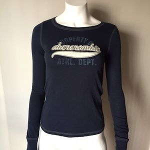 Abercrombie Blue Long Sleeve - Embroidered